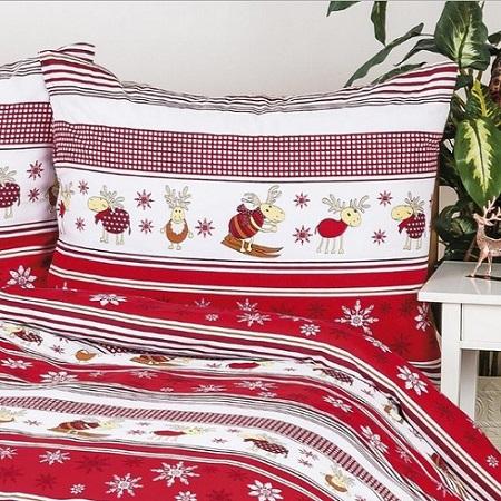 vianočné posteľné obliečky