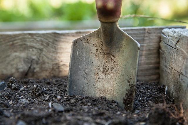 práca na úprave záhrady