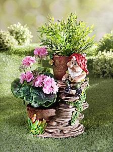 trpaslik s kvetinacmi